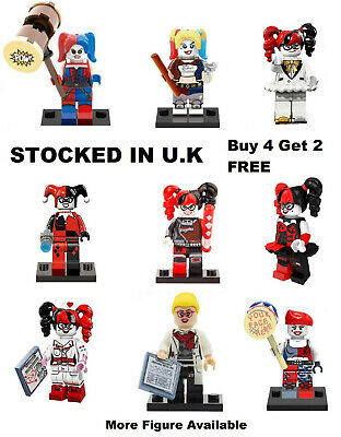 Harley Quinn Minifigure Batman Suicide Squad DC Nurse Lego & Custom Mini Figure