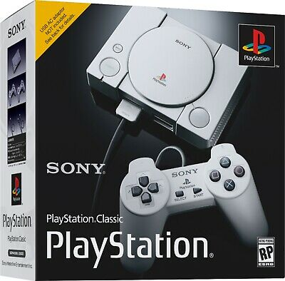 New Sony PlayStation Classic Mini Console With AC Adapter & 20 Games, SCPH-1000R