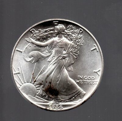 1986 United States American Eagle 1OZ. Fine Silver .999 Starting near Melt Value