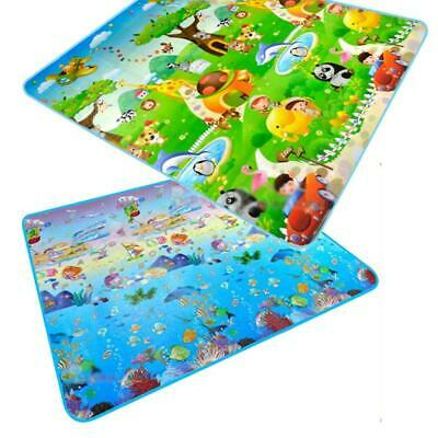 2x1.8 Meter Toddler Crawling Mat Double Sided Ocean Themed Printed Mat WT88 02