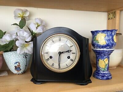 "SMITHS ENFIELD STRIKING 8 DAY ""Art Deco"" BAKELITE MANTLE CLOCK"