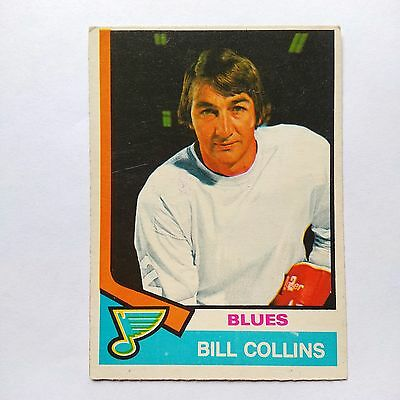 1974-75 OPC O-Pee-Chee #364 Bill Collins St. Louis Blues - VG