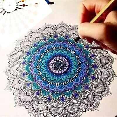 Mandala Dot Painting Templates Stencils For Stone Wall Art Canvas Wood Art