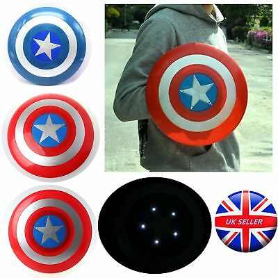 UK Avengers Captain America Shield with LED light Collectible Kids Toy Gift 30cm