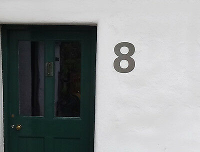 Large Solid Stainless Steel Door / House / Unit Numbers 30cm high