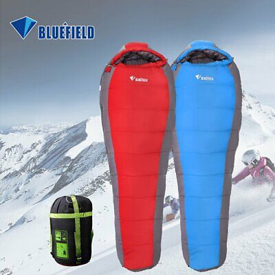 4 Season Waterproof Single Sleeping Bag Camping Hiking Mummy Travel Bag Cover UK