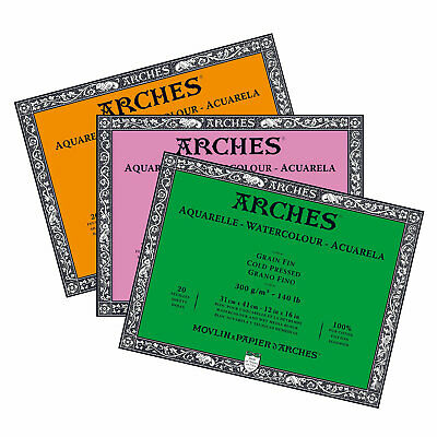Arches Professional  High Quality Watercolour Paper Blocks 300gsm 31 x 41 cm