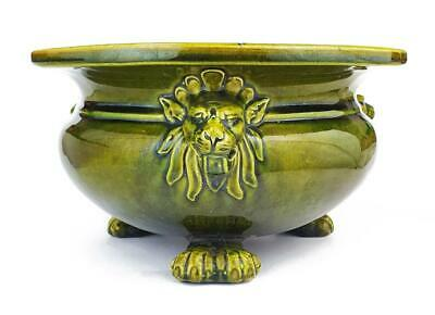 Fine ARTS & CRAFTS MOVEMENT BRETBY LION MASK CENSOR / BOWL c1900