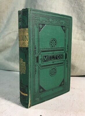 Poetical Works Of John Milton Antique Victorian Decorative Binding Book