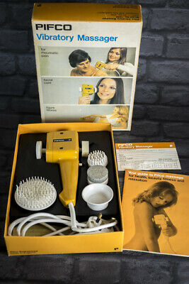Vintage Pifco Vibratory Massager Boxed, Instructions 1970s Working