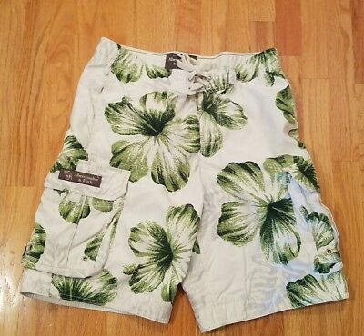 5cff8fe693 Abercrombie & Fitch Mens Size M Boardshorts Swim Trunks Tropical White Green