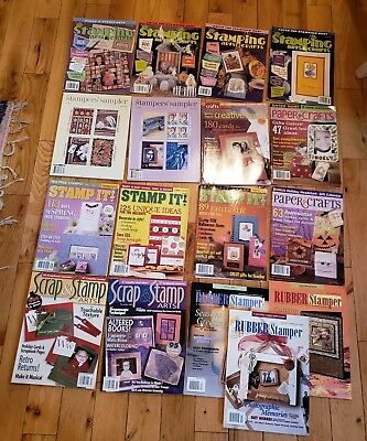 Lot of 17... Assorted Rubber Stamping & Paper Crafts Type Magazines.