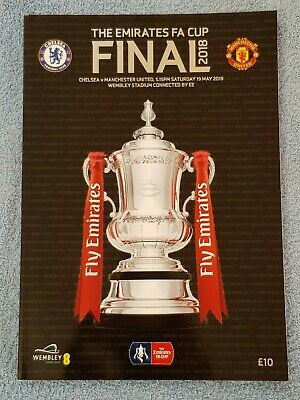 2018 - FA CUP FINAL PROGRAMME - CHELSEA v MANCHESTER UTD - V.G CONDITION