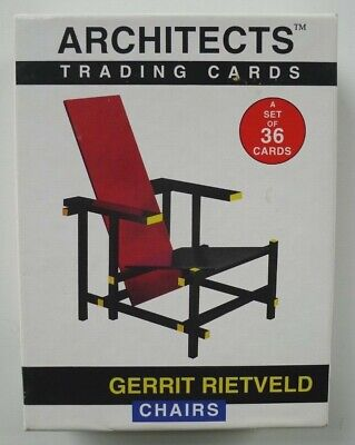 Gerrit Rietveld chairs - 36 Trading Cards - acme studio - serie Architects