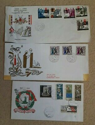 Malta 1966/69  FIRST DAY COVERS.  COMPLETE SETS.