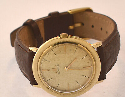 Vintage Jaeger Le Coultre 14K Yellow Gold Mens Mechanical Watch