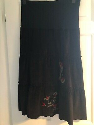 Black Cord Maternity Skirt Size 10 Bnwt