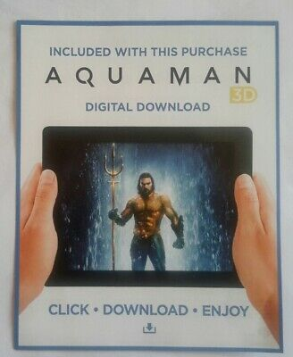 """""""Aquaman - 3D""""  download code **No disc! From the 'DC' 3D blu-ray."""