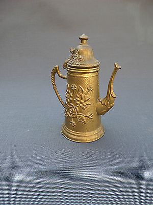 Antique Faux Teapot or Pitcher Brass (Copper Yellow)