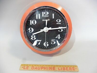 Kiple Clock, Plastic, Kitchen Ware, Cookware Orange Works in L Condition