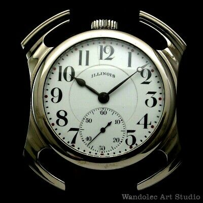 ILLINOIS Vintage Men's Wrist Watch American Classic Mechanical Mens Wristwatch