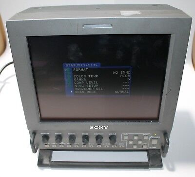 """SONY LMD-9030 9"""" PORTABLE MONITOR WITH AC-LMD9  AC in ADAPTOR and SDI in"""
