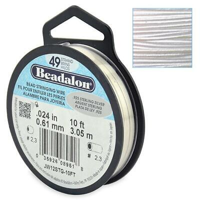 Beadalon Wire 49 Strand Stainless Steel Bead Stringing Choose Size, Colour.