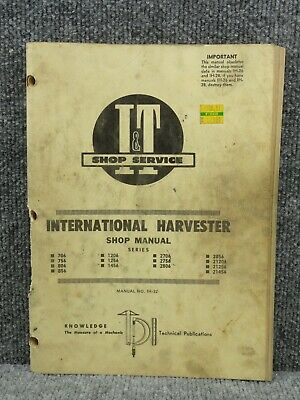 706 806 international harvester tractor technical service shop     international  tractor wiring diagrams on