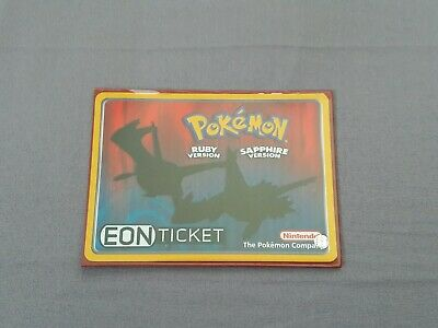 POKEMON EON TICKET e-Reader Card for Pokemon Ruby & Sapphire