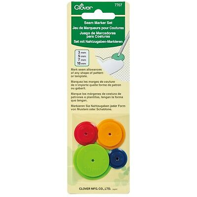 CLOVER SET OF 4 SEAM MARKER SET - SEAM WIDTHS INCLUDED - 3mm,5mm,7mm & 10mm