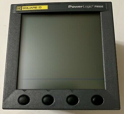 New(No Box) Square D Pm820 Power Meter W/ Integrated Pm800 Display Mint Warranty