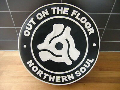 Black/White On the Floor Northern Soul Scooter Wheel Cover