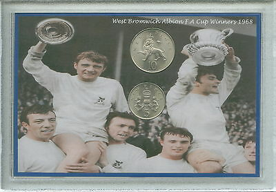 West Bromwich Albion Brom Baggies WBA Vintage F.A Cup Winners Coin Gift Set 1968