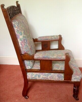 Matching Pair Of Victorian Library Chairs