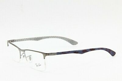 7c01efd5c1 Brand New Ray-Ban Rb 8413 2851 Silver Eyeglasses Authentic Rb8413 54-18