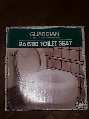 Raised Toilet Seat 5 inch Elevated Sunrise/Guardian model 30250 New-In-Box