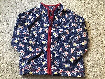 Baby Girls Blue Floral Mothercare Fleece Jacket - Age 9-12 Mths