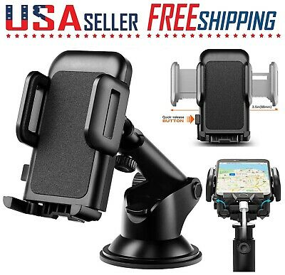 Car Cell Phone Mount Holder, Dashboard  Windshield, CD Slot Stand 360 Rotation