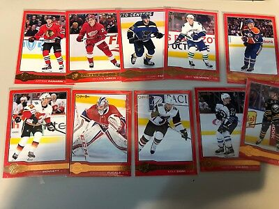 2015-16 Upper Deck Series 2 OPC Glossy Rookies RED Set R1-10 Connor McDavid RC