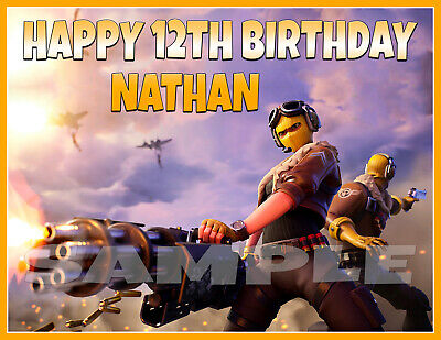 FORTNITE S9 LOAD SCREEN PREMIUM QUALITY Icing Image Cake Topper PERSONALISED