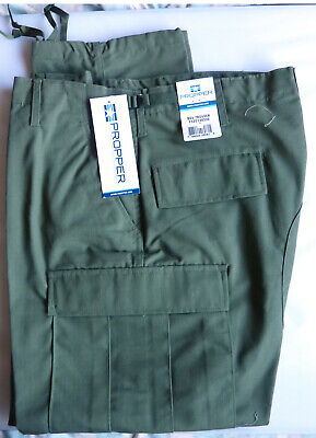 Propper OD BDU Pants Large-Long Button Fly Poly-Cotton Rip-Stop F5201 NWT