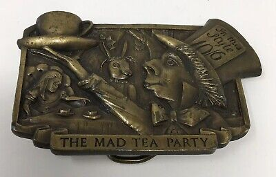 1977 Captain Hawks Sky Patrol and Novelty Co.The Mad Tea Party Belt Buckle USED