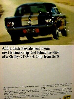 Vintage /& Rare 1963 Shelby American Cobra Ad Better Than Original Print