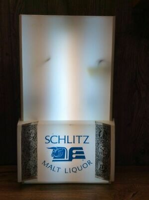 Vintage Schlitz Malt Liquor Lighted Bar Advertising Sign Works! B2