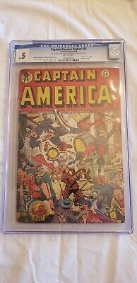 Captain America golden age comic CGC 0.5 Timely #54