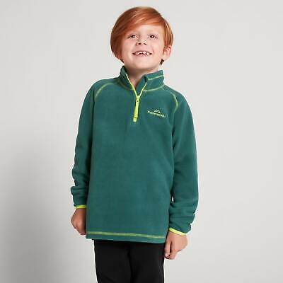 NEW Kathmandu Ridge Kids' Boys' Girls' 2-6 Years Warm 1/4 Zip Fleece Jacket