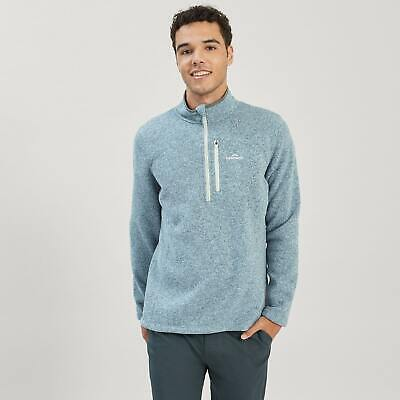 NEW Kathmandu Aikman Comfortable Warm Fleece 1/4 Zip Men Outdoor Sweater