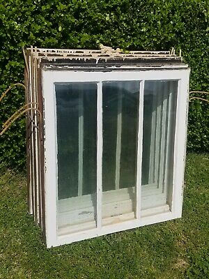 "Old Window Frame with Wavy Glass, Repurpose, Rustic Farmhouse Decor, 28""x30""."