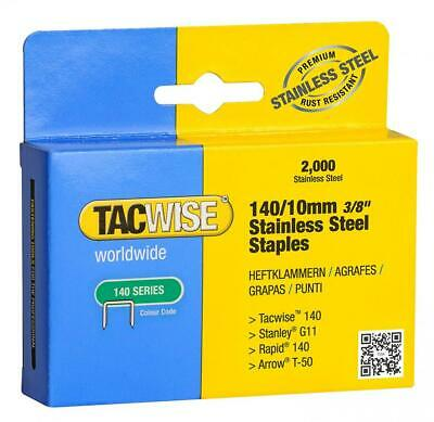 Tacwise 140/10mm Stainless Steel Staples (Box of 2000), 10mm