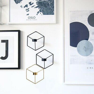 3D Sconce Tealight Candlestick Geometric Candle Holder Nordic Style Wall Mounted